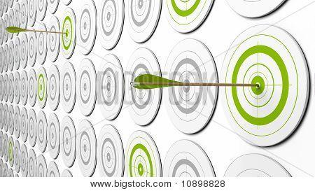 green targets