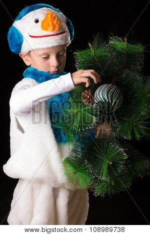 Boy Christmas Costume Snowman.