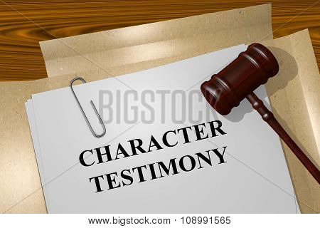 Character Testimony Concept