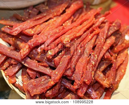 Flesh Spicy Called Coppiette Typical Culinary Specialties Of Lazio In Italy