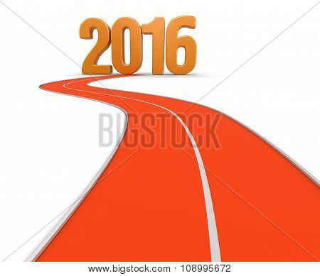 Way to 2016 (clipping path included)