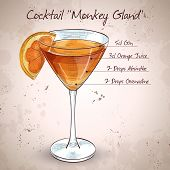 Постер, плакат: Cocktail Monkey Gland