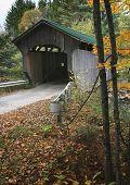 Cover Bridge In Vermont