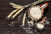 Постер, плакат: Spikes Of Wheat And Whole wheat Flour