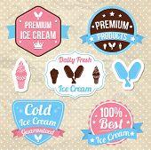 Постер, плакат: Ice cream shop logo