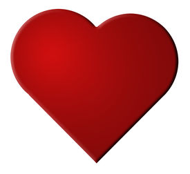 stock photo of valentine heart  - illustration of red valentine heart isolated on white - JPG