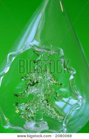 Árbol de Navidad de vidrio