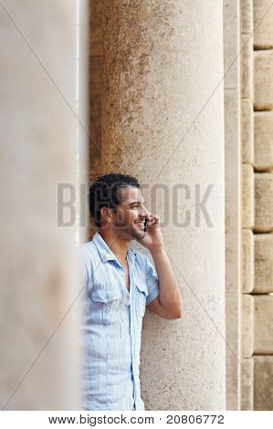 Man Talking On Cellphone