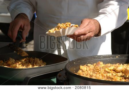 Cooking At A Festival