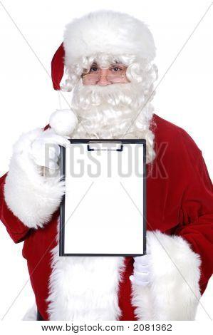 Santa Claus Whit Billboard