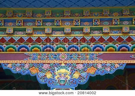 Colorful Cornice Painting
