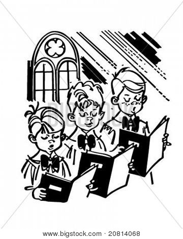 Boys Choir - Retro Clipart Illustration