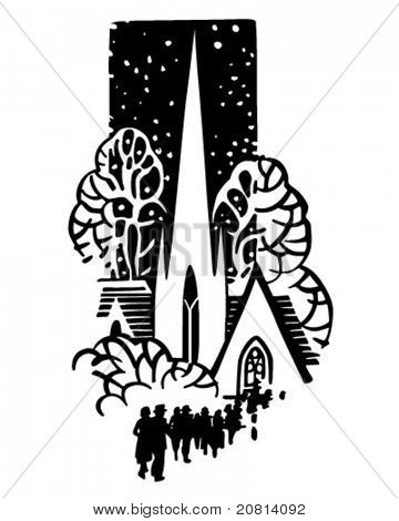 Church Motif - Retro Clipart Illustration