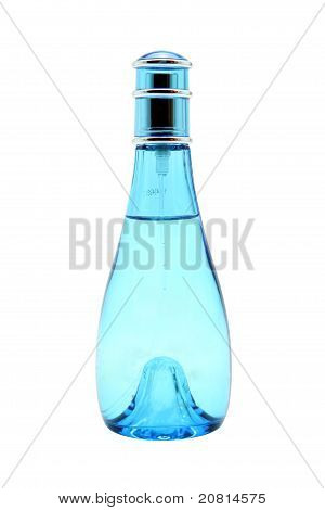 Full Glass Light Blue Spray Bottle