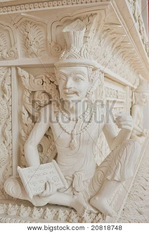 Ascetic Statue In Thai Style Molding Art