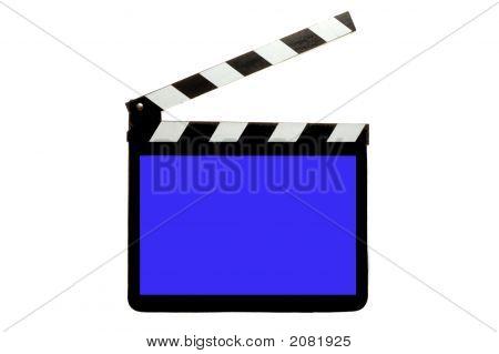 Clap tablero con pantalla azul
