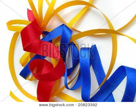 Decorative ribbons, colorful background