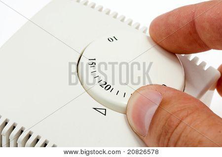 Termostato de ambiente de ajuste de mano
