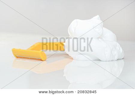 Razor And Shaving Foam