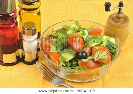 Macedonian Salad Arrangement