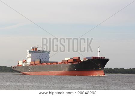 Fraser River Container Ship