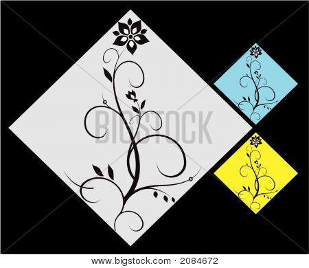 Ornamental Flower Elements
