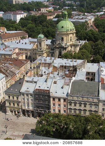 the roofs of Lviv, Ukraine