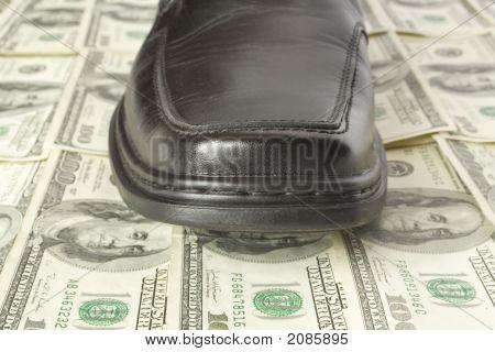 Shoe On Dollar Floor