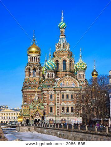 Spas-na-krovi cathedral. St.Petersburg, Russia.