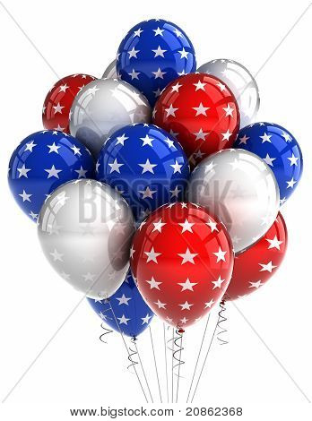 Patriotische Ballons