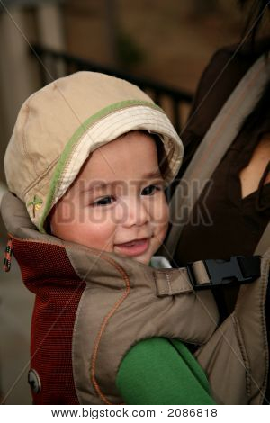 Baby In Front Carrier