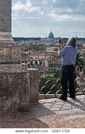 Tourist in Rome, Italy