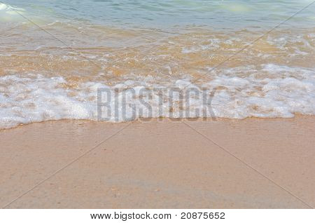 Sea Beach And Wave Background