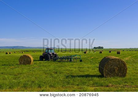 Tractor On The Canadian Prairie