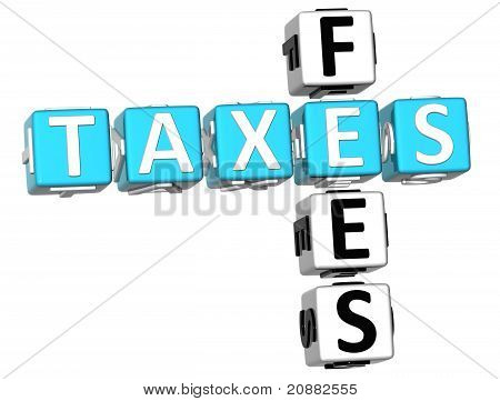 3D Taxes Fees Crossword