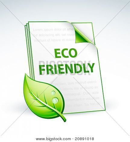 paper eco friendly icon