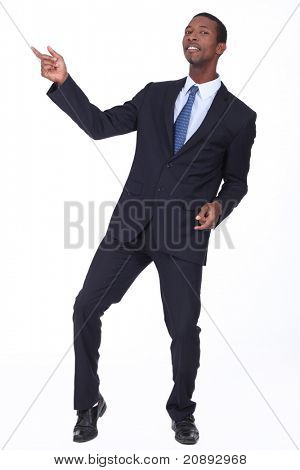 black man in suit
