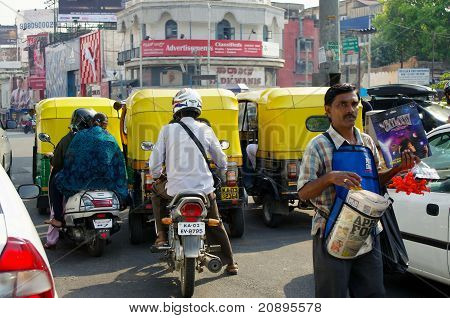 Traffic And Newspaper Seller In India