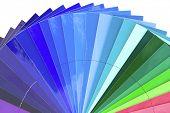 Постер, плакат: Зеленый синий цвет масштаб графика изолированные на белом фоне
