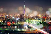 Постер, плакат: Tokyo Sky Tree With Tokyo Cityscape