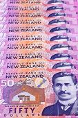 picture of nzd  - Detail of Dollar notes in New Zealand currency - JPG