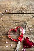 Two Forks And Red Hearts poster