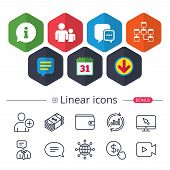 Information Sign And Group. Communication Icons. poster