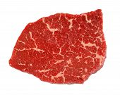 Beef Steak Isolated On White Background poster