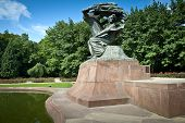 picture of chopin  - Frederick Chopin monument in Royal Park Lazienki in Warsaw Poland - JPG