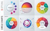 Collection Of Vector Circle Chart Infographic Templates For Pres poster