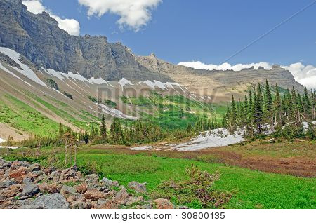 A Mountain Valley In Summer