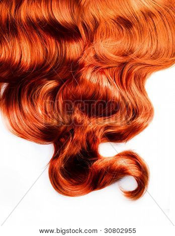 Red Hair isolated on white