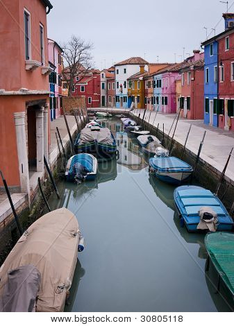 Colorful Fishermen Houses In Burano