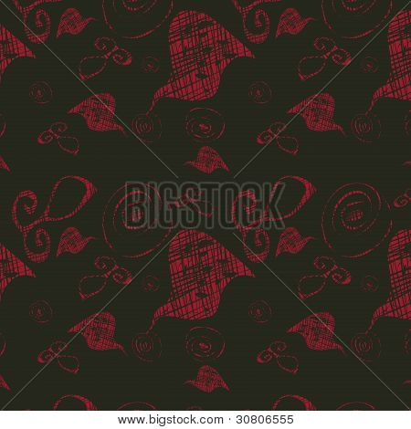 Dark Seamless Background With Bright Abstract Figures